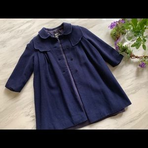 Other - Girls navy wool coat. Fully lined. Made in England